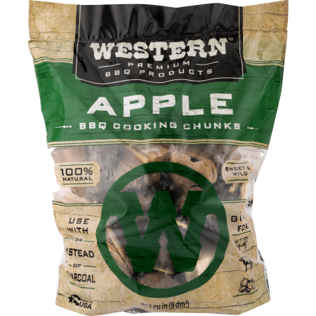 Western Premium BBQ Products Apple BBQ Cooking Chunks, 549 cu in (Chunk Deck)