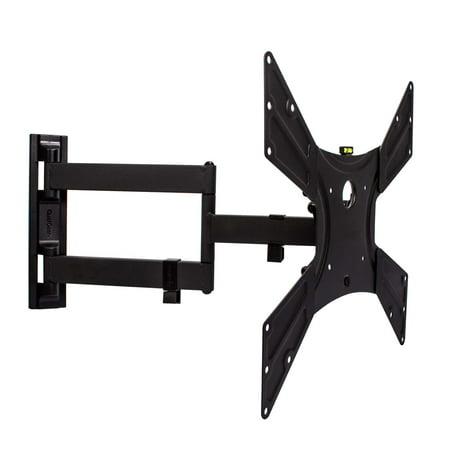 QualGear QG-TM-021-BLK Universal Ultra-Slim Low-Profile Articulating Wall Mount for 23
