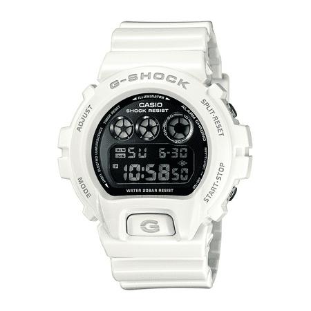 Casio Men's G-Shock Digital Quartz 200M WR Shock Resistant Watch Color: White (DW-6900NB-7) G-shock 200m World Time Watch