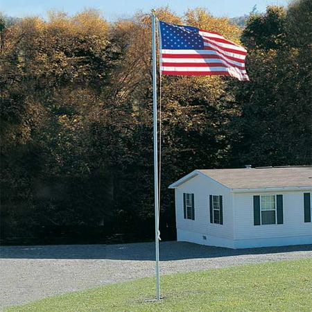 20-foot Patriot U.S. Flagpole Set (Includes 3' x 5' Flag) ()