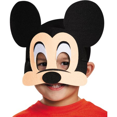 Mickey Mouse Felt Mask Child Halloween Accessory - La Casa De Mickey Mouse Halloween Online