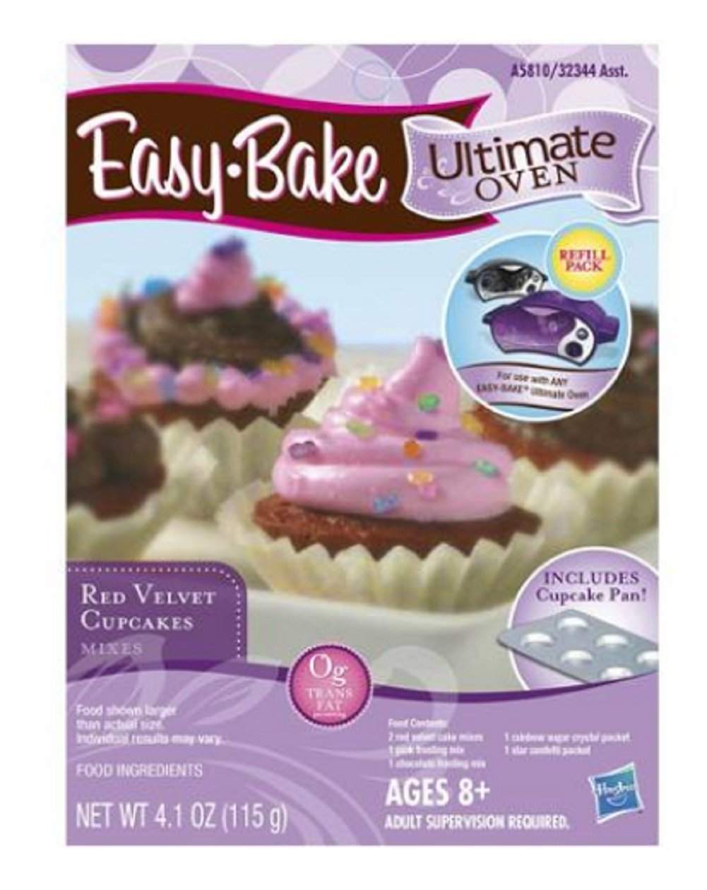 Easy Bake Ultimate Hasbro Oven Cupcake Mix Pan Amp Wrap
