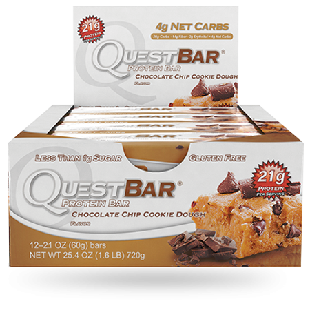 Quest Nutrition - Bar Quête Protein Bar Chocolate Chip Cookie Dough - 12 Bars