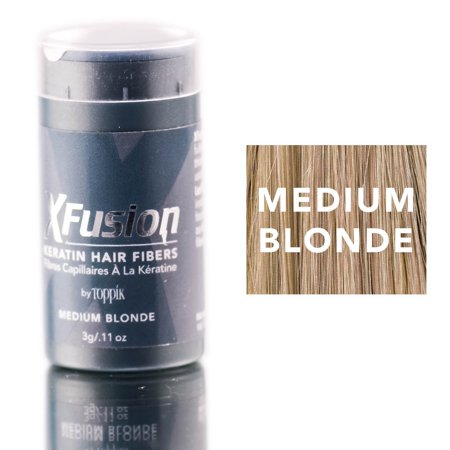 Xfusion Hair Fiber - XFusion Medium Blonde Keratin Hair Fibers (Size : 0.11 oz)