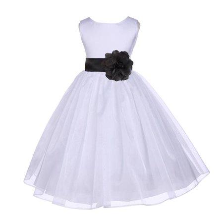 - Ekidsbridal White Shimmering Organza Junior Flower Girl Dress First Communion Dress Holy Baptism Dress Christening Dress Easter Summer Dresses Special Occasion Dresses Junior Bridesmaid Dress 841T