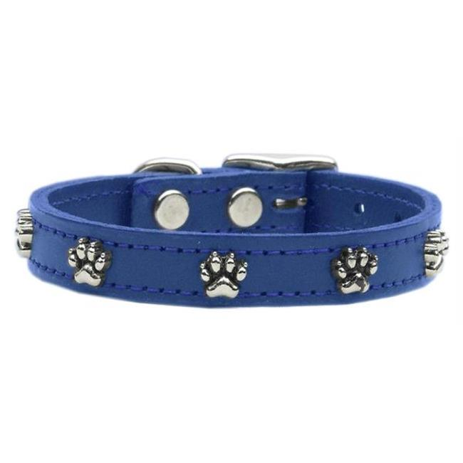 Mirage Pet Products 83-18 12BL Paw Leather  Blue 12