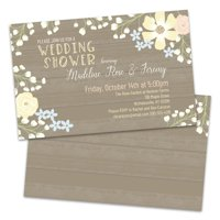 Personalized Floral Border Wedding Shower Invitation