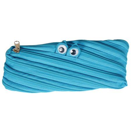 CBD Zipper Monster Pen Bag Pencil Case Blue