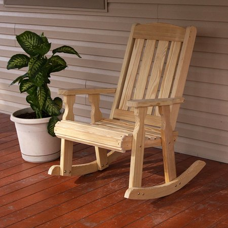 Heavy Duty Rocker Guards - Amish Heavy Duty 600 Lb Mission Pressure Treated Rocking Chair (Unfinished)