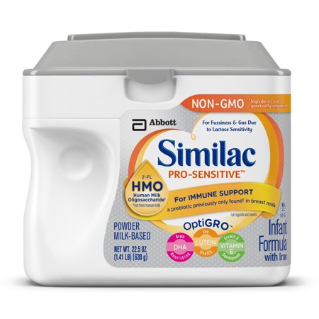 Similac Pro Sensitive Infant Formula With 2 Fl Human Milk Oligosaccharide  Hmo  For Immune Support  22 5 Ounces  Pack Of 4
