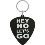 Ramones Hey Ho Rubber Key Chain Black