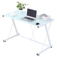 Computer Desk Corner Laptop Table Workstation Home Office Furniture White