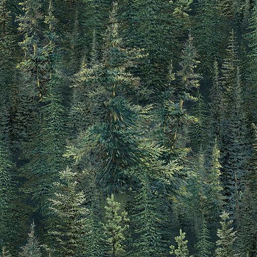 Wild Wings Lookout Peak Pine Trees Fabric