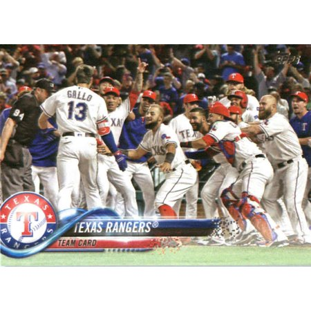 Texas Rangers Baseball Cards (2018 Topps #229 Texas Rangers Team Baseball)