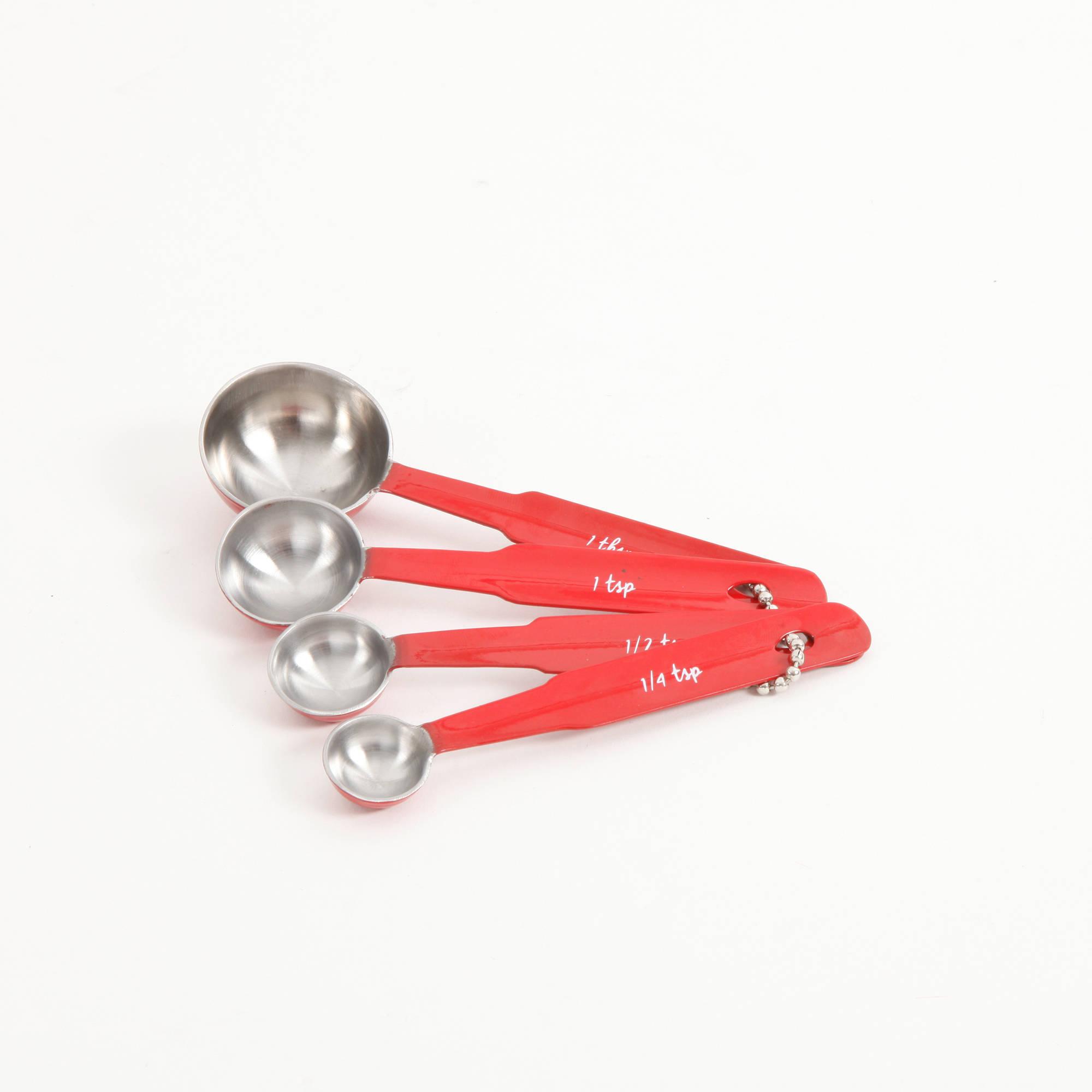 The Pioneer Woman Metal Cowboy Rustic Red Measuring Spoons, 4 Piece