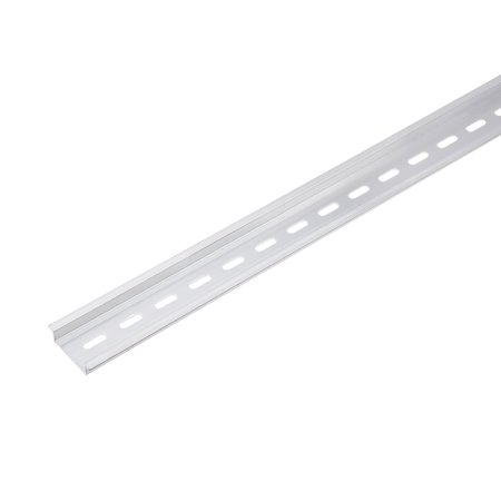 100cmx35mmx7.5mm 0.9mm Thick Aluminum Straight Edge Guide DIN Rail Silver