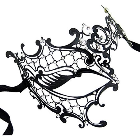 Masquerade Masks , Coxeer Venetian Mask Laser Cut Phantom Of The Opera Cosplay Wedding Party for Women - Masquerade Masks Plain
