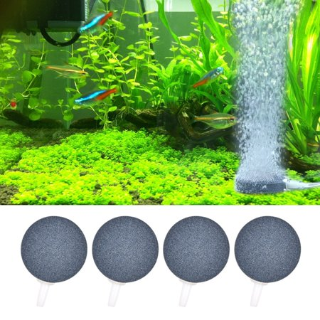 2 Pack Aquarium Air Pump - 4 Pack Air Stone Air Bubble 4cm/6 cm Airstones Diffusers for Aquarium Fish Tank Hydroponics Air Pump