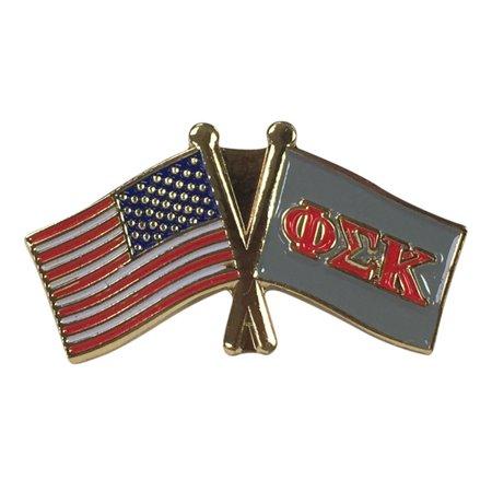 Phi Sigma Kappa Flag and USA Flag Lapel Pin - Walmart com
