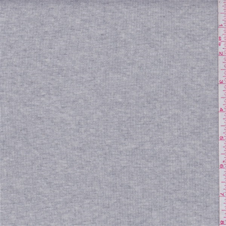Dusty Grey/Ivory Heather Thermal Knit, Fabric By the Yard