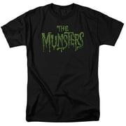 The Munsters Monster Family Sitcom TV Series CBS Distress Logo Adult T-Shirt Tee
