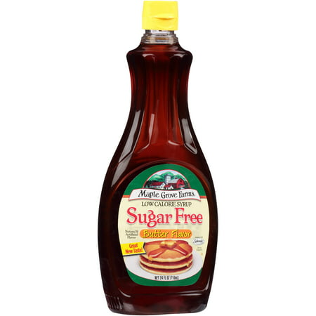 Maple Grove Farms Sugar Free Butter Flavor Syrup  24 Oz