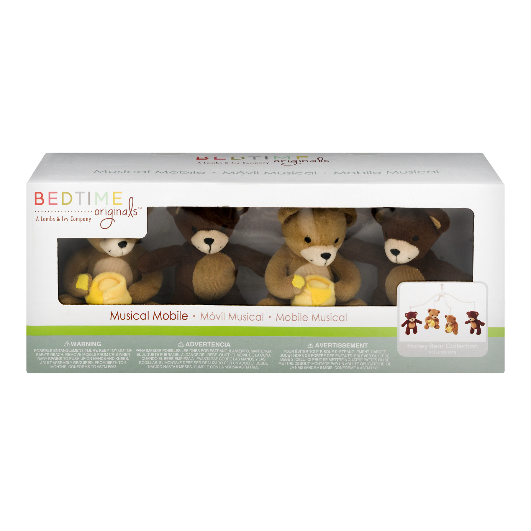 Bedtime Originals Lamps Musical Mobile ,Honey Bear Collection, 1.0 CT