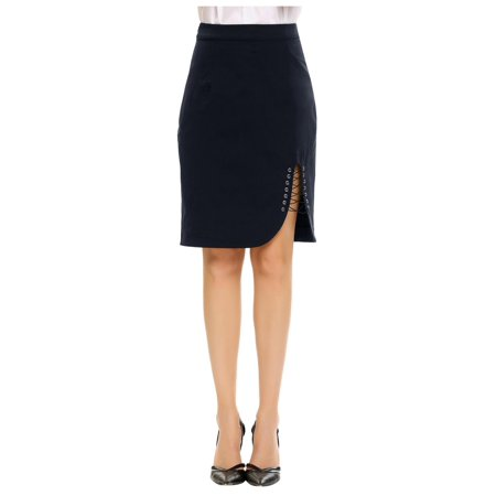 Women High Waist Package Hip Pencil Skirt Cross Lace-up OL Party HFON
