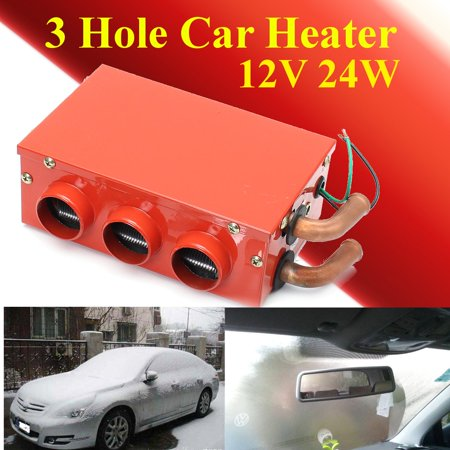 - Meigar 12V 24W Car Vehicle Heater Defroster Demister Portable 3 Holes Heating Cooling
