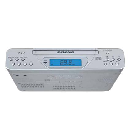 Sylvania SKCR2613C Under Cabinet Kitchen CD Clock Radio with Remote Control - Manufacturer
