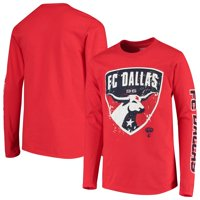 FC Dallas Youth Deconstructed Long Sleeve T-Shirt - Red