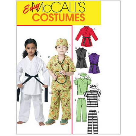 McCall's Children's, Boys' and Girls' Costumes, CDD (2, 3, 4, 5) - Children's Halloween Costume Patterns