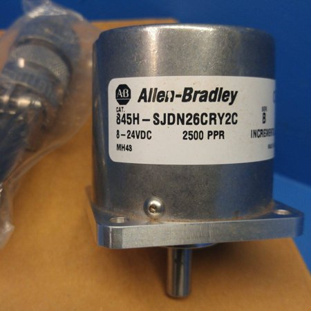 - New Allen Bradley 845H-SJDN26CRY2C Encoder Ser B 8-24VDC 2500 PPR Increment NIB