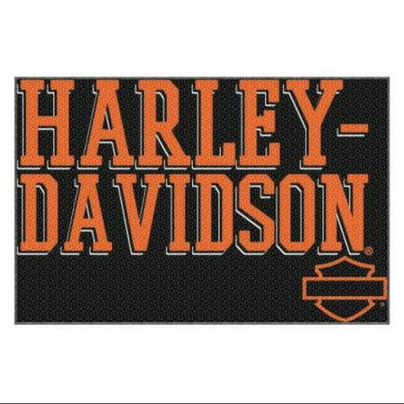 Harley Davidson Pinup Script Large Tufted Rug 39 X 59