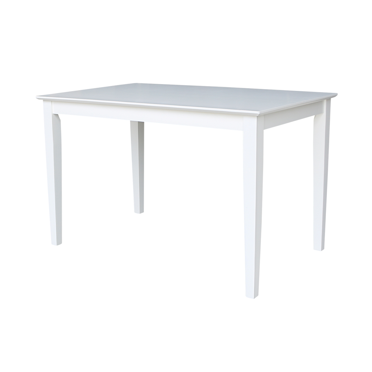 Solid Wood 30 X 48 Inch Dining Table In White Walmartcom