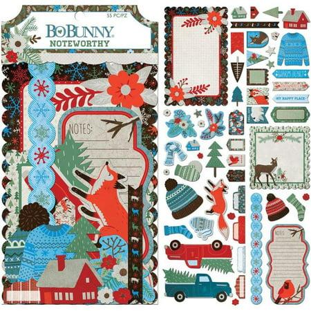 Winter Getaway Noteworthy Die-Cuts - Bo Bunny