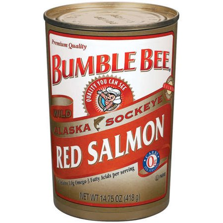 Reversible Bumble Bee (Bumble Bee Wild Alaska Red Salmon, 14.75 Ounce Can, Wild Caught, High Protein Food and Snacks)