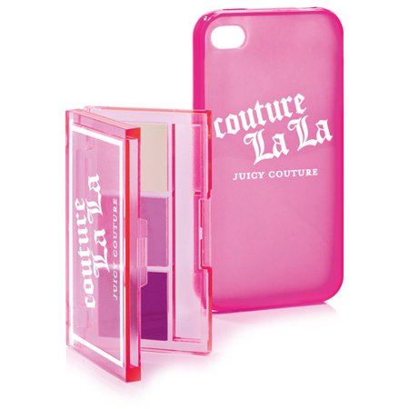 Juicy Couture Couture La La Lip Gloss Trio with iPhone Case in Hot Pink