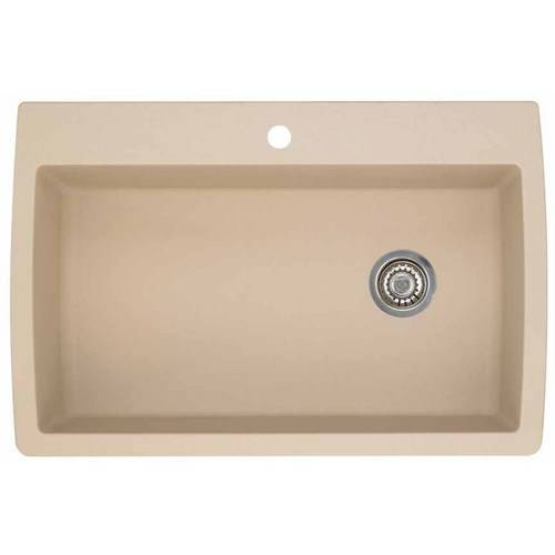 """Blanco 440195 Diamond 22"""" X 33.5"""" Single-Basin Granite Drop-In Or Undermount 1-Hole Residential Kitchen Sink, Available in Various Colors"""