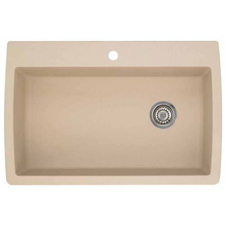 "Blanco 440195 Diamond 22"" X 33.5"" Single-Basin Granite Drop-In Or Undermount 1-Hole Residential Kitchen Sink, Available in Various Colors"