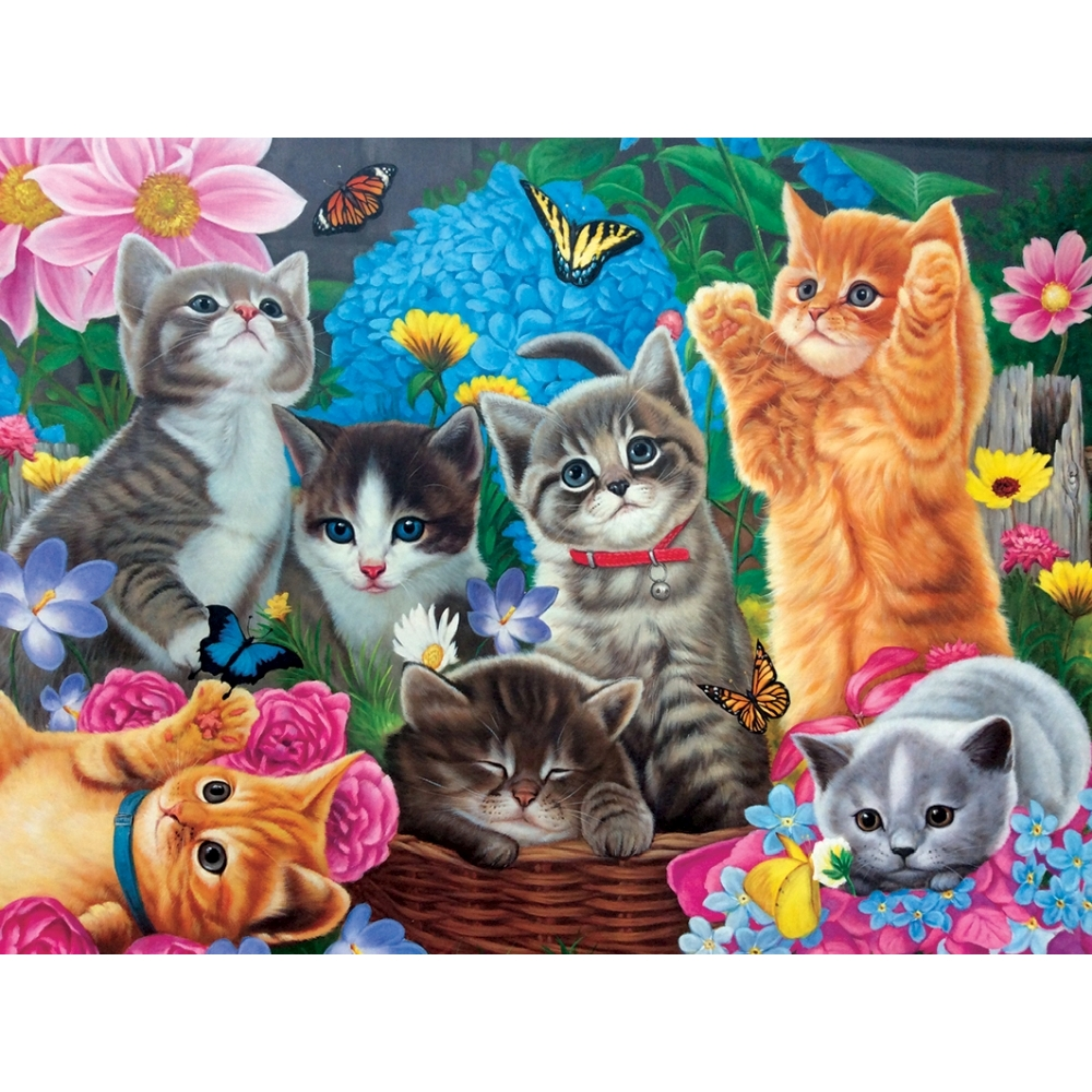 Playtime in the Garden 1000 Piece Puzzle