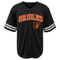 MLB Baltimore ORIOLES TEE Short Sleeve Boys Fashion Jersey Tee 60% Cotton 40% Polyester BLACK Team Tee 4-18