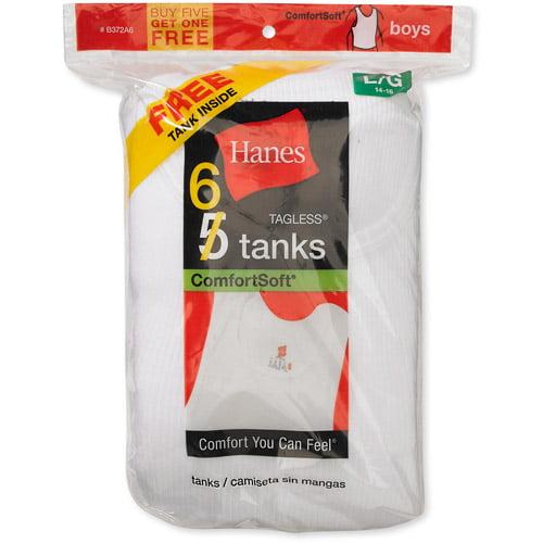 Hanes Boys EcoSmart Tagless Tanks Base Layer Top