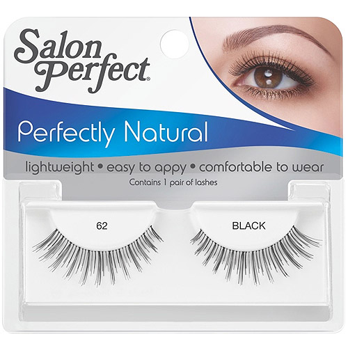 Salon Perfect Perfectly Natural Eyelashes, 62 Black, 1 pr