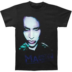 Marilyn Manson Men's  Oversaturated T-shirt Black (Marilyn Manson Halloween Cover)