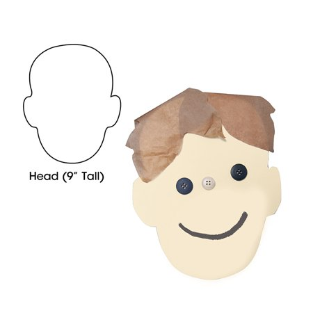 BIG CUT OUTS 9IN HEAD SHAPE 25CT Apple Shape Cut Out