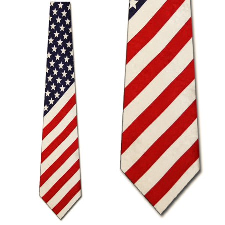 American Flag Antique Necktie Mens Tie by Tieguys