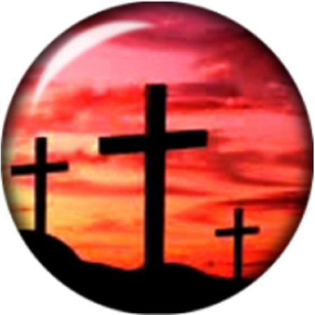 Snap button 3 cross in the sunset 18mm Cabochon chunk charm