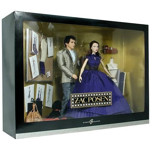 Mattel Zac Posen Barbie & Ken Doll Gift Set - Platinum Label Barbie Collectible