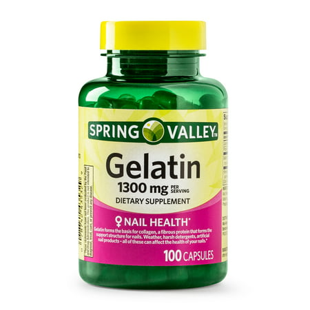 (2 Pack) Spring Valley Gelatin Capsules, 1300 mg, 100 - 1300 Mg 120 Capsules